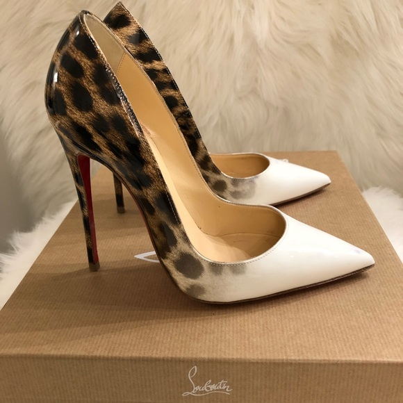 size 40 ba405 90c56 Christian Louboutin So Kate Patent Degrade Leopard